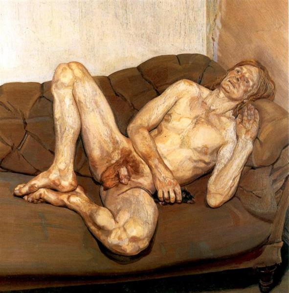 Naked Man with Rat - Freud Lucian