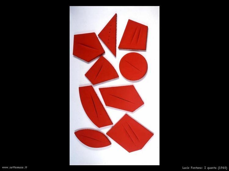 I quanta, 1960 - Lucio Fontana - WikiArt.org
