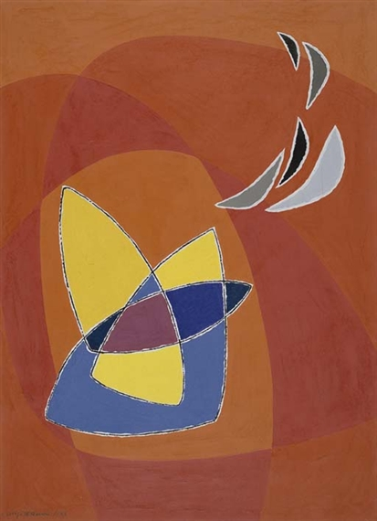 Composizione in rosso, 1953 - Луиджи Веронези