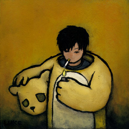 Self-Portrait (Smoke Break), 2005 - Luke Chueh