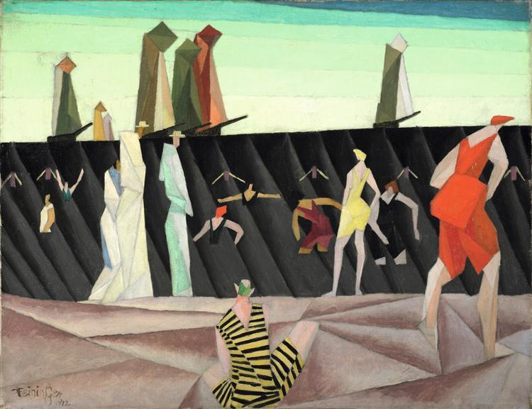 Bathers on the Beach I 1912, 1912 - Lyonel Feininger