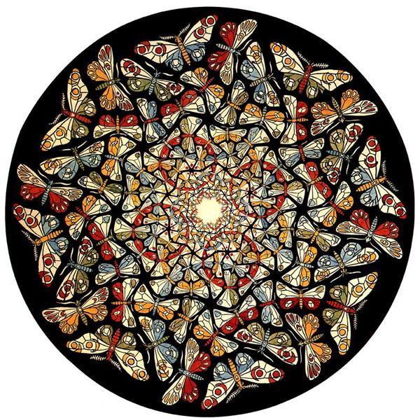 Circle Limit with Butterflies, 1950 - M.C. Escher