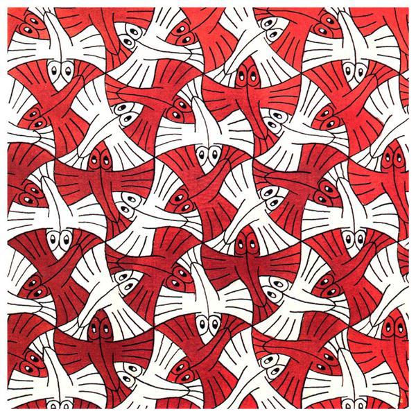 Flying Fish - M.C. Escher
