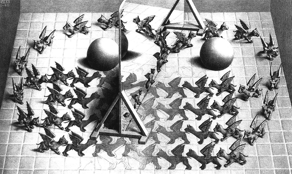 Magic mirror m c escher