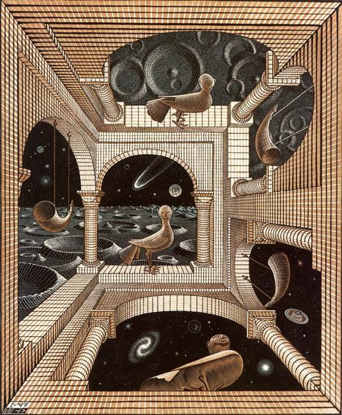 Other World, 1947 - M.C. Escher