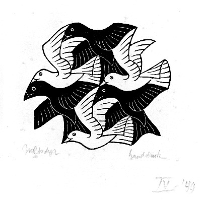 Plane Filling Motif with Birds - Escher M.C.