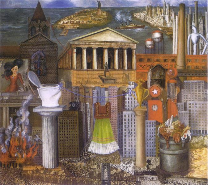 My Dress Hangs There, 1933 - Frida Kahlo