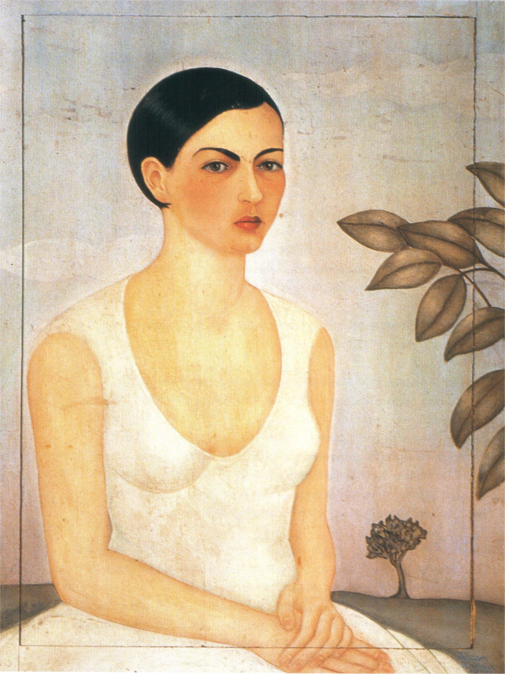 portrait of cristina my sister 1928 frida kahlo. Black Bedroom Furniture Sets. Home Design Ideas