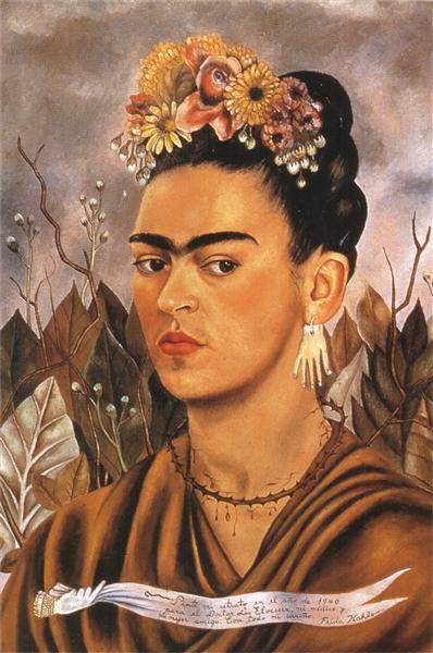 Self Portrait Dedicated to Dr Eloesser, 1940 - Frida Kahlo