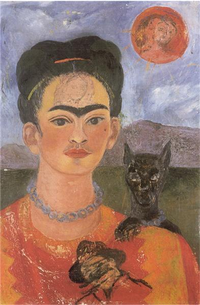 Self Portrait with a Portrait of Diego on the Breast and Maria Between the Eyebrows, 1954 - Frida Kahlo