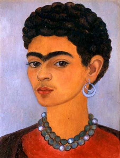 Self Portrait with Curly Hair, 1935 - 芙烈達.卡蘿