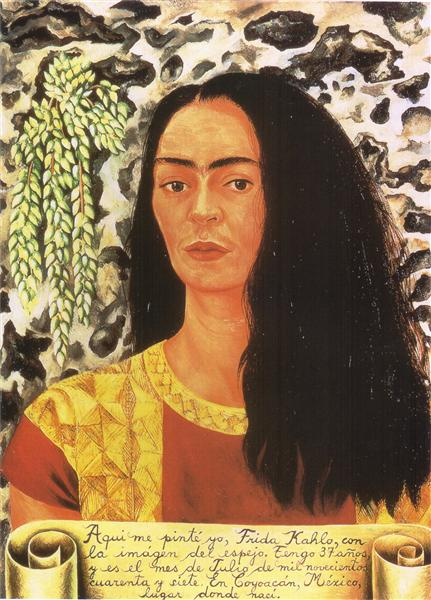 Self Portrait with Loose Hair, 1947 - Frida Kahlo