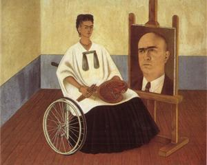 Self-Portrait with the Portrait of Doctor Farill - Frida Kahlo
