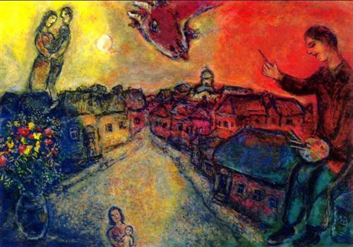 Artist over Vitebsk - Marc Chagall