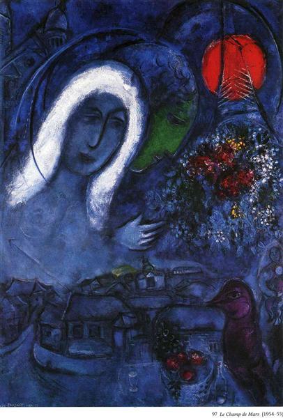 Field Of Mars 1954 1955 Marc Chagall Wikiart Org