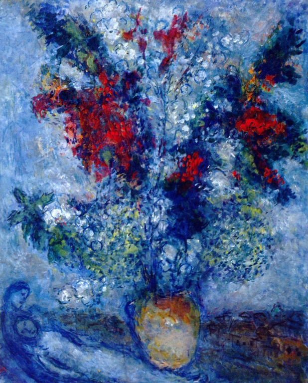 Chagall Red Painting Saint Paul De Vence