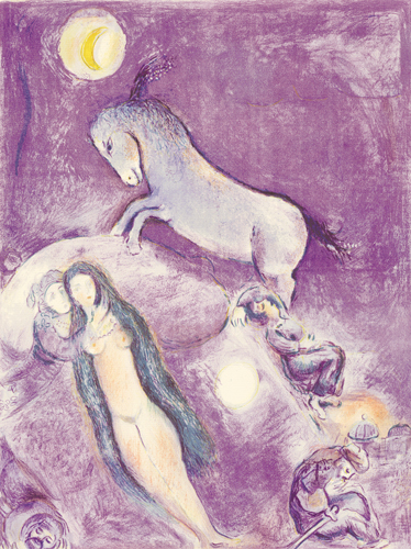 He went up to the couch..., 1948 - Marc Chagall