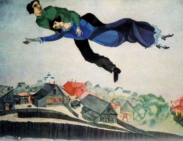 Over the town, 1918 - Marc Chagall - WikiArt.org