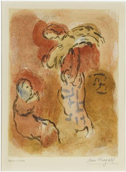 Ruth gleaning, 1960 - Marc Chagall