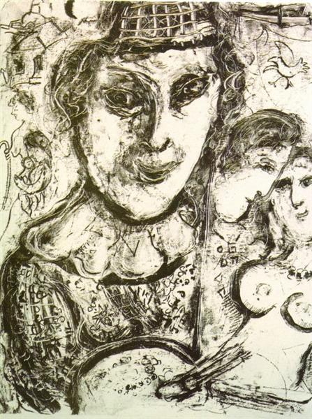 Self-portrait, 1963 - Marc Chagall