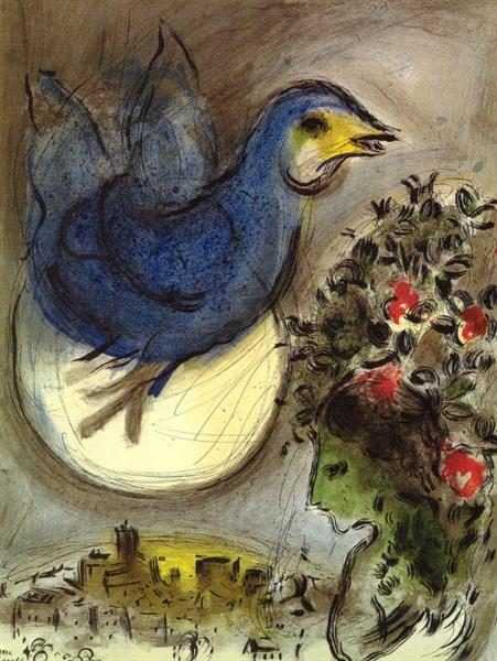 The blue bird, 1968 - Marc Chagall