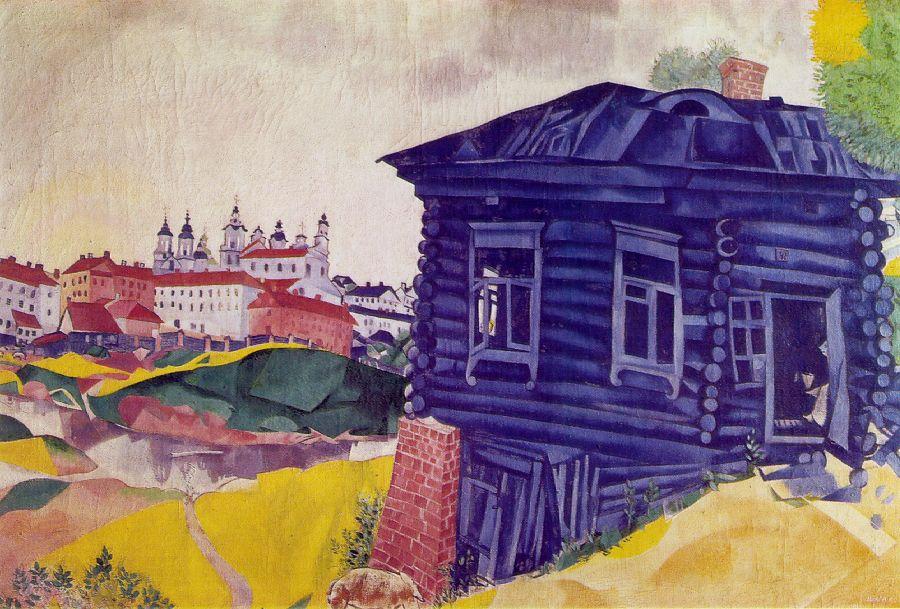 The blue house 1917 marc chagall for Arts de la maison