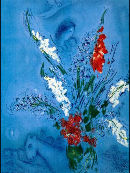 The Gladiolas, 1967 - Marc Chagall