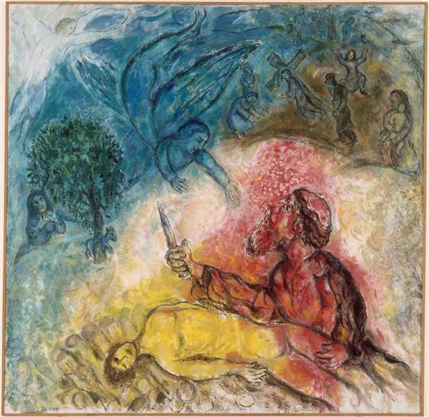 The sacrifice of Isaac, 1966 - Marc Chagall - WikiArt.org