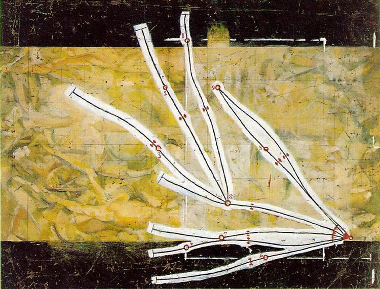 Network of Stoppages, 1914 - Marcel Duchamp