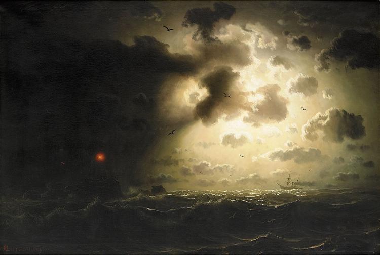 Night at Sea, 1858 - Marcus Larson