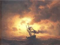 Stemship in Sunset - Marcus Larson