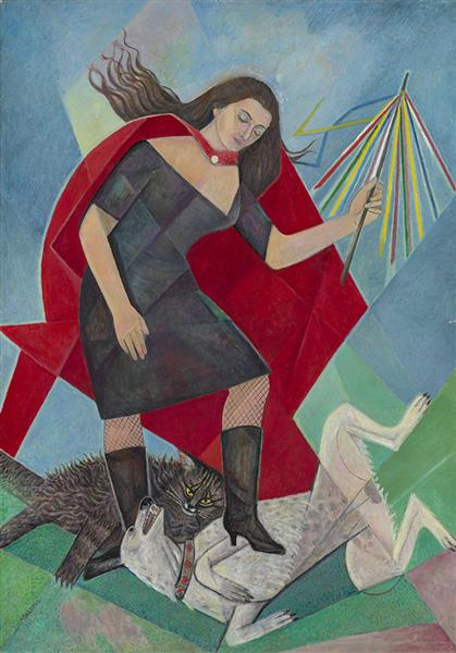 Woman and the animals, 1966 - Marevna (Marie Vorobieff)