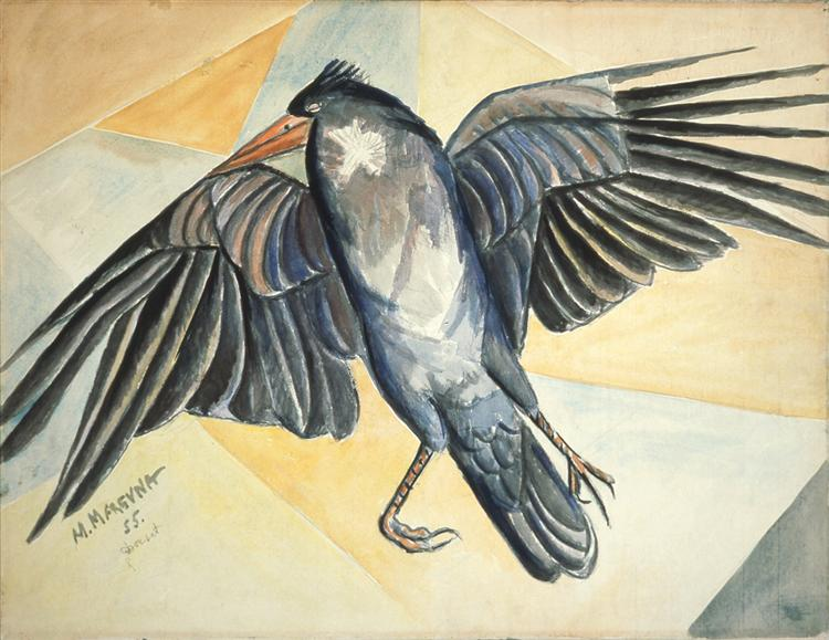 Study of a Dead Crow, 1955 - Marevna (Marie Vorobieff)