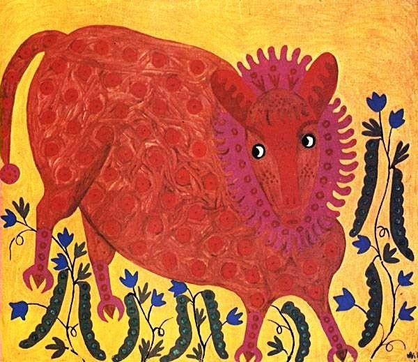Pea beast, 1971 - Maria Primachenko