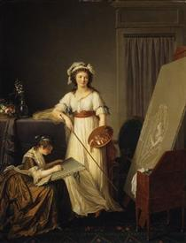 Atelier of a painter - Marie-Denise Villers