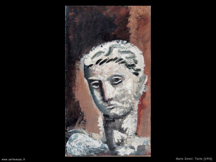 Head, 1941 - Mario Sironi