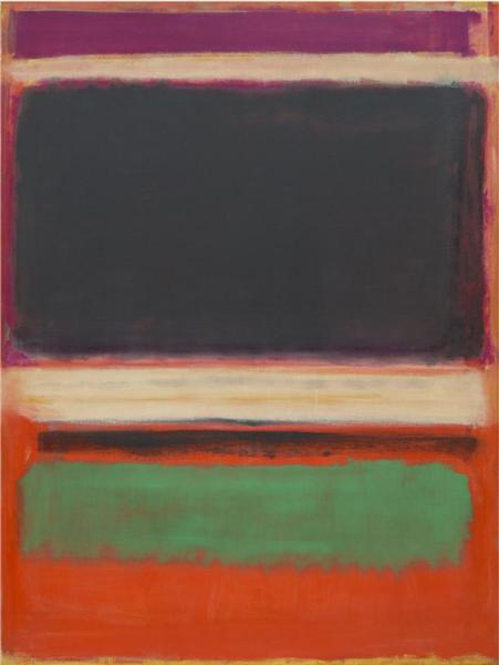 No.3/No.13 (Magenta, Black, Green on Orange) - Mark Rothko