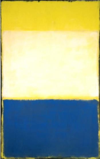 No. 6 (Yellow, White, Blue Over Yellow on Gray), 1954 - Mark Rothko