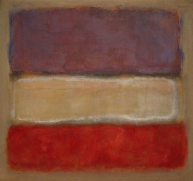 Untitled (Purple, White, and Red), 1953 - Mark Rothko