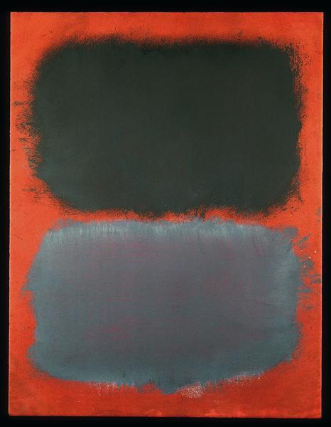 Untitled (Gray, Gray on Red), 1968 - Mark Rothko