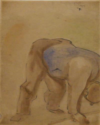 Pike Street Market Sketch, 1941 - Mark Tobey