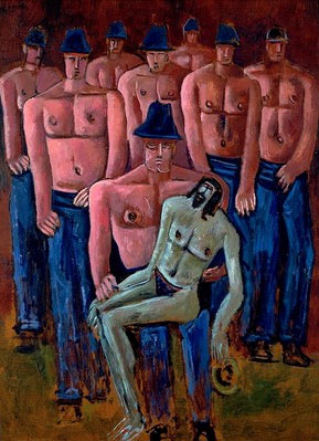 Christ Held by Half-Naked Men - Marsden Hartley