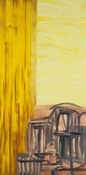 City with Yellow Sky, 1994 - Martha Diamond