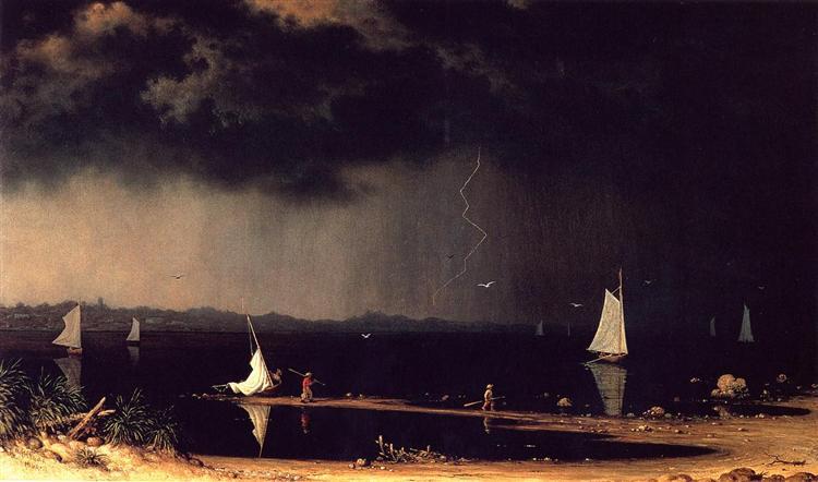 Thunderstorm on Narragansett Bay, 1868 - Martin Johnson Heade