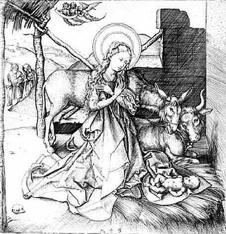 Christ's birth - Martin Schongauer