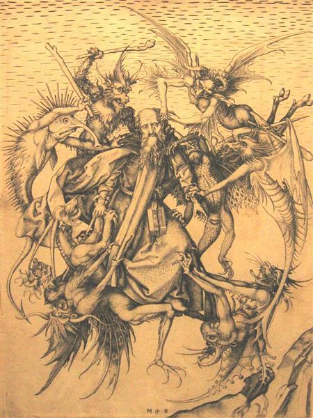 Holy Antonius, 1470 - Martin Schongauer