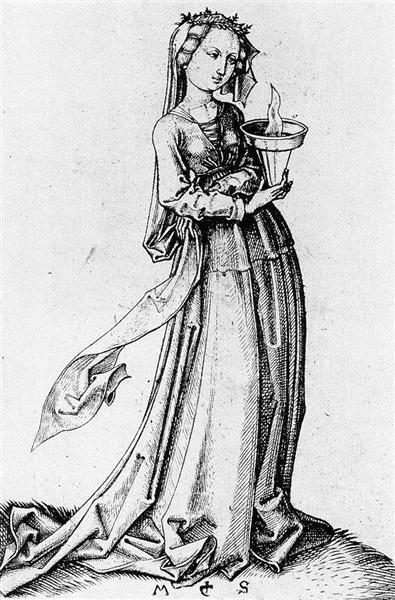 The Fourth Wise Virgin, 1483 - Martin Schongauer