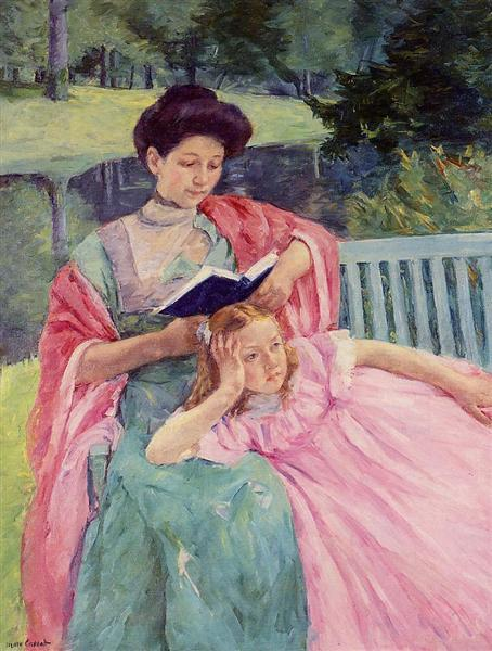 Auguste Reading to Her Daughter, 1910 - Mary Cassatt