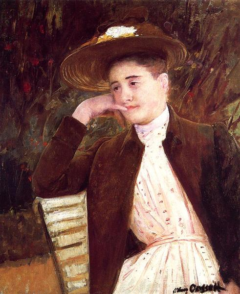 Celeste in a Brown Hat, 1891 - Мері Кассат