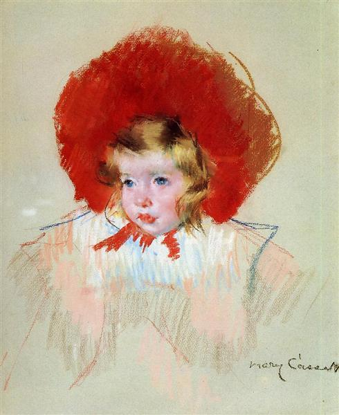 Child with Red Hat, c.1908 - Mary Cassatt